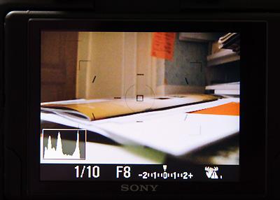 Live view histogram